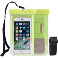 Stay Dry Waterproof Case with Armband and Lanyard - Green