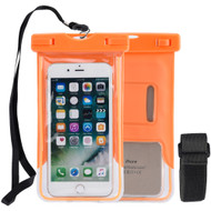 Stay Dry Waterproof Case with Armband and Lanyard - Orange
