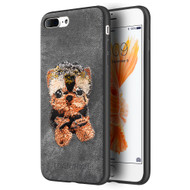 *Sale* Adorable Puppy Embroidery Case for iPhone 8 Plus / 7 Plus - Yorkshire