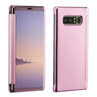 Electroplating Book-Style Case with Semi-Transparent Flip Cover for Samsung Galaxy Note 8 - Rose Gold