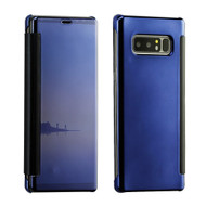 Electroplating Book-Style Case with Semi-Transparent Flip Cover for Samsung Galaxy Note 8 - Blue