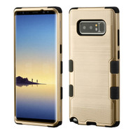 Military Grade Certified Brushed TUFF Hybrid Armor Case for Samsung Galaxy Note 8 - Gold