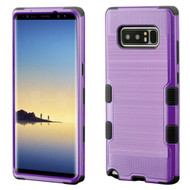 Military Grade Certified Brushed TUFF Hybrid Armor Case for Samsung Galaxy Note 8 - Purple