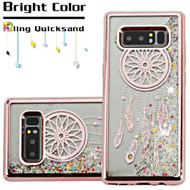 Electroplating Quicksand Glitter Transparent Case for Samsung Galaxy Note 8 - Dreamcatcher Rose Gold