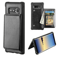 Pocket Wallet Case with Stand for Samsung Galaxy Note 8 - Black