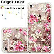 Confetti Quicksand Glitter Transparent Case for iPhone 8 / 7 / 6S / 6 - European Rose