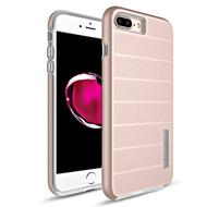 Haptic Dots Texture Anti-Slip Hybrid Armor Case for iPhone 8 Plus / 7 Plus - Rose Gold