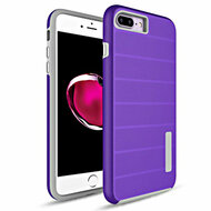 Haptic Dots Texture Anti-Slip Hybrid Armor Case for iPhone 8 Plus / 7 Plus - Purple