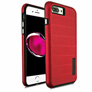 Haptic Dots Texture Anti-Slip Hybrid Armor Case for iPhone 8 Plus / 7 Plus - Red