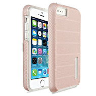 *Sale* Haptic Dots Texture Anti-Slip Hybrid Armor Case for iPhone SE / 5S / 5 - Rose Gold