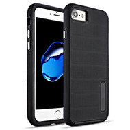 Haptic Dots Texture Anti-Slip Hybrid Armor Case for iPhone 8 / 7 - Black