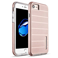 Haptic Dots Texture Anti-Slip Hybrid Armor Case for iPhone 8 / 7 - Rose Gold