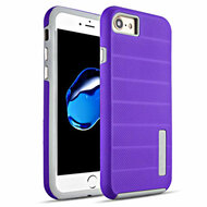 Haptic Dots Texture Anti-Slip Hybrid Armor Case for iPhone 8 / 7 - Purple
