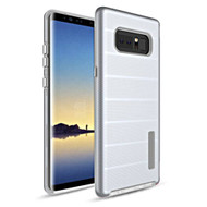 Haptic Dots Texture Anti-Slip Hybrid Armor Case for Samsung Galaxy Note 8 - Silver
