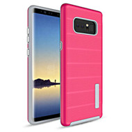 *Sale* Haptic Dots Texture Anti-Slip Hybrid Armor Case for Samsung Galaxy Note 8 - Hot Pink