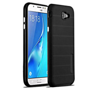 Haptic Dots Texture Anti-Slip Hybrid Armor Case for Samsung Galaxy J7 (2017) / J7 V / J7 Perx - Black