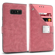 *SALE* Cosmopolitan Leather Canvas Wallet Case for Samsung Galaxy Note 8 - Pink