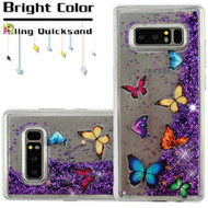 Quicksand Glitter Transparent Case for Samsung Galaxy Note 8 - Butterfly Dancing