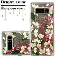 Quicksand Glitter Transparent Case for Samsung Galaxy Note 8 - Sally Flower