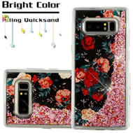 Quicksand Glitter Transparent Case for Samsung Galaxy Note 8 - Roses