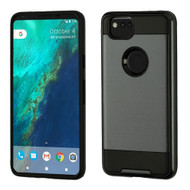 Brushed Hybrid Armor Case for Google Pixel 2 - Black
