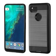Brushed Hybrid Armor Case for Google Pixel 2 XL - Black