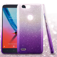 Full Glitter Hybrid Protective Case for ZTE Blade Z Max - Gradient Purple