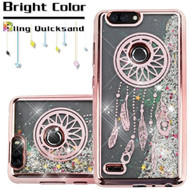 Electroplating Quicksand Glitter Transparent Case for ZTE Blade Z Max - Dreamcatcher Rose Gold