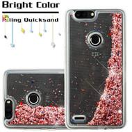 *Sale* Quicksand Glitter Transparent Case for ZTE Blade Z Max - Rose Gold