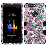 Military Grade Certified TUFF Image Hybrid Armor Case for ZTE Blade Z Max - Persian Paisley