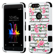*Sale* Military Grade Certified TUFF Image Hybrid Armor Case for ZTE Blade Z Max - Pink Fresh Roses