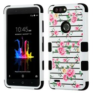 Military Grade Certified TUFF Image Hybrid Armor Case for ZTE Blade Z Max - Pink Fresh Roses