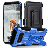 Heavy Duty Dual Layer Hybrid Armor Case with Holster for Samsung Galaxy Note 8 - Blue