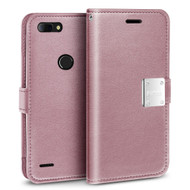 Essential Leather Wallet Case for ZTE Blade Z Max - Rose Gold