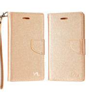 Diary Leather Wallet Case for ZTE Blade Z Max - Rose Gold