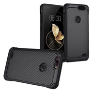 Tough Anti-Shock Hybrid Case for ZTE Blade Z Max - Carbon Fiber