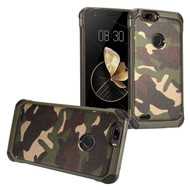 Tough Anti-Shock Hybrid Case for ZTE Blade Z Max - Camouflage