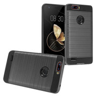 Brushed Hybrid Armor Case for ZTE Blade Z Max - Black