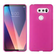 Rubberized Crystal Case for LG V30 / V30+ - Hot Pink