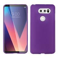 Rubberized Crystal Case for LG V30 / V30+ - Purple