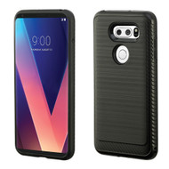 Brushed Multi-Layer Hybrid Armor Case for LG V30 / V30+ - Black