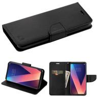Diary Leather Wallet Case for LG V30 / V30+ - Black