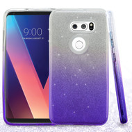 Full Glitter Hybrid Protective Case for LG V30 / V30+ - Gradient Purple