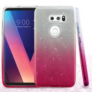 Full Glitter Hybrid Protective Case for LG V30 / V30+ - Gradient Pink