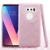 Full Glitter Hybrid Protective Case for LG V30 / V30+ - Pink