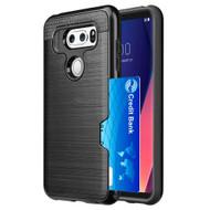 ID Card Slot Hybrid Case for LG V30 / V30+ - Black