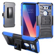 Advanced Armor Hybrid Kickstand Case with Holster for LG V30 / V30+ - Blue