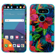 Military Grade Certified TUFF Image Hybrid Armor Case for LG V30 / V30+ - Electric Hibiscus