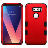 Military Grade Certified TUFF Hybrid Armor Case for LG V30 / V30+ - Red