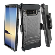 Eclipse Legend Anti Shock Hybrid Armor Case and Holster for Samsung Galaxy Note 8 - Black